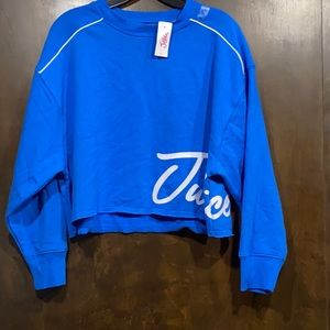 Justice active cropped sweatshirt size 12